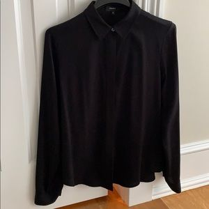 Theory Silk Black Shirt